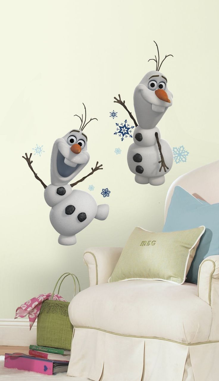 73 best frozen kids bedroom diy decor images on pinterest frozen amazon roommates rmk2372scs frozen olaf the snow man peel and stick wall decals amipublicfo Choice Image