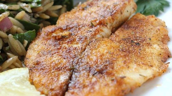 This pan-seared tilapia dish is a delicious and easy way to prepare seafood! Great for a quick weeknight meal accompanied with fresh veggies.