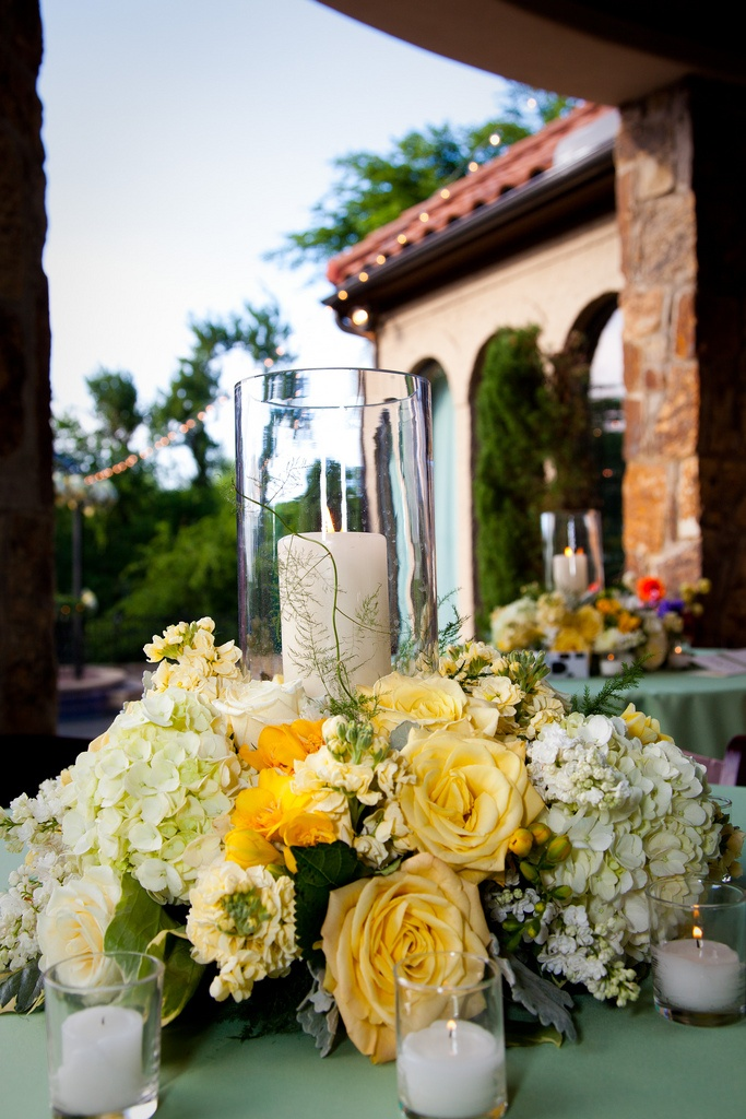 Wedding ● Tablescape ● Centerpiece ● Yellow