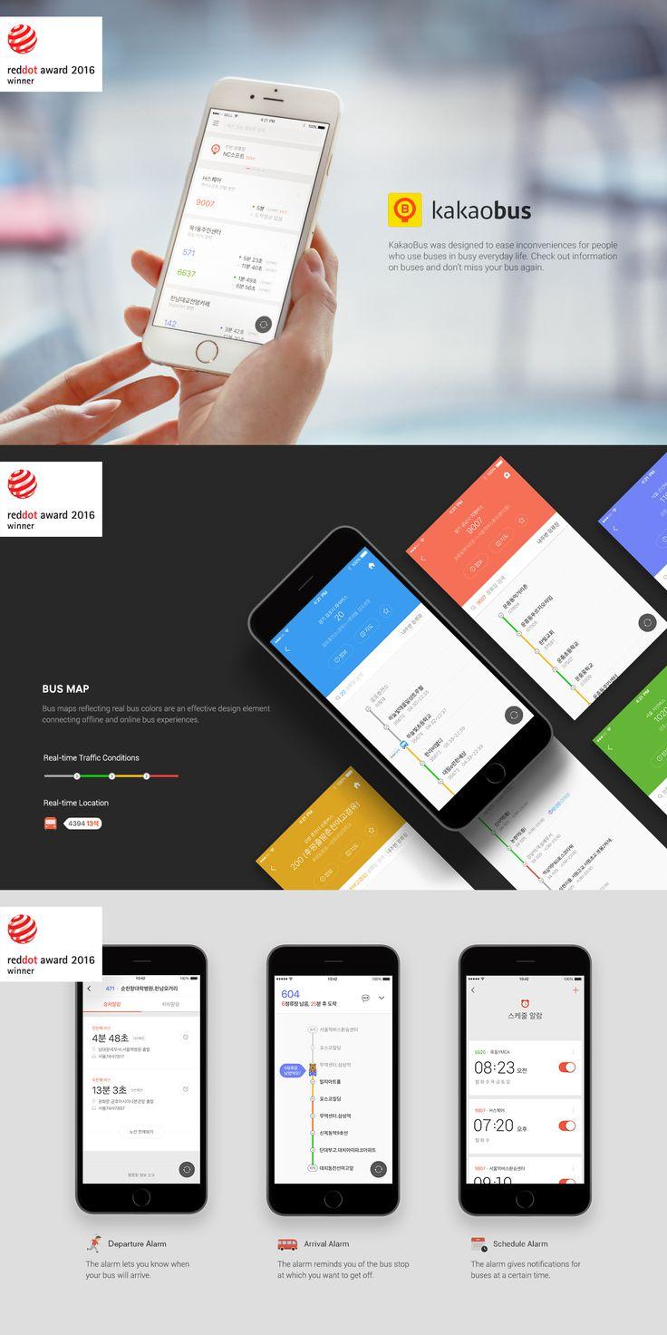 kakaobus app red-dot design award winner