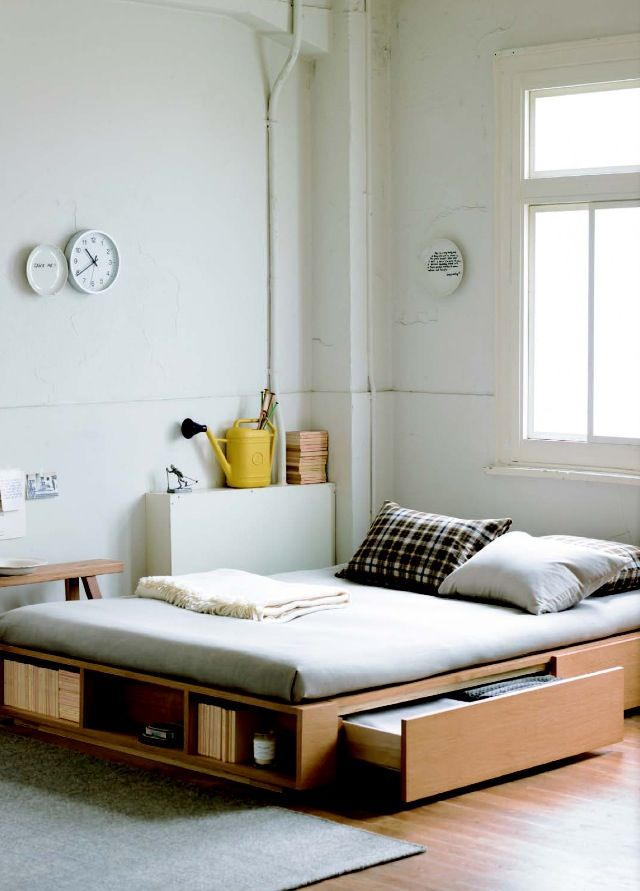 Loving Muji's storage bed!