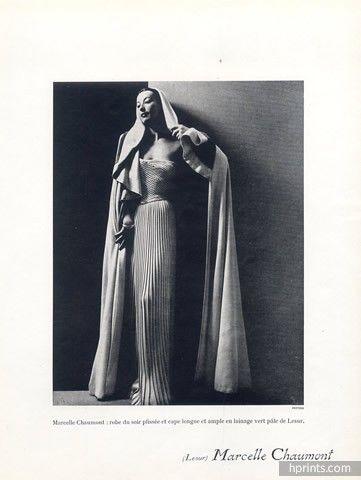 Marcelle Chaumont (Couture) 1947 Philippe Pottier, Lesur