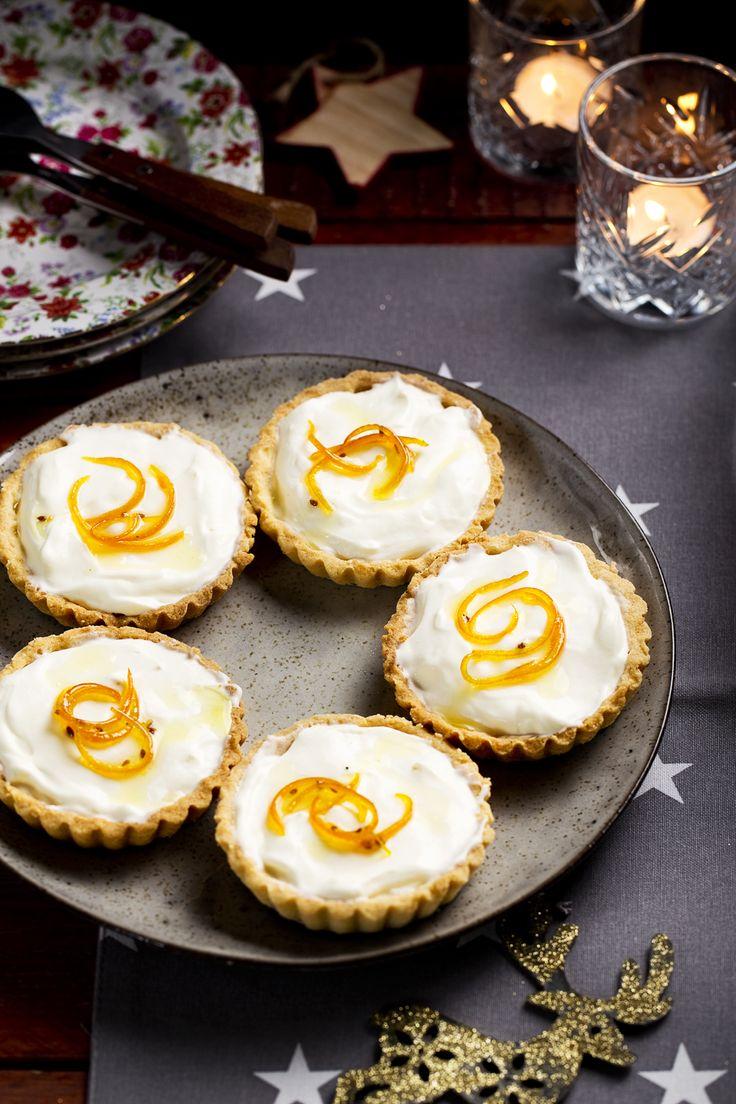 Het kersttoetje van Den Eelder: Tartelette met yoghurtmousse en gekonfijte sinaasappel