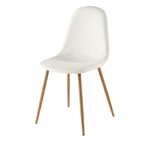 Clyde - Chaise scandinave blanche