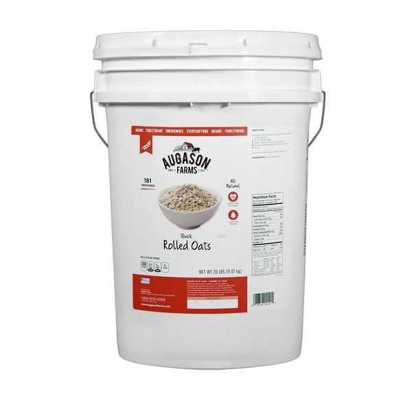 Quick Rolled Oats Pail 4 Gallon Emergency Food Survival Camping Storage Oatmeal