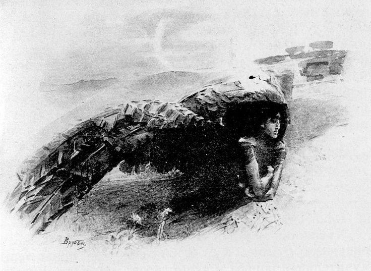 """М.А. Врубель - Демон. 1890-1891. Иллюстрация к поэме М.Ю. Лермонтова """"Демон"""""""