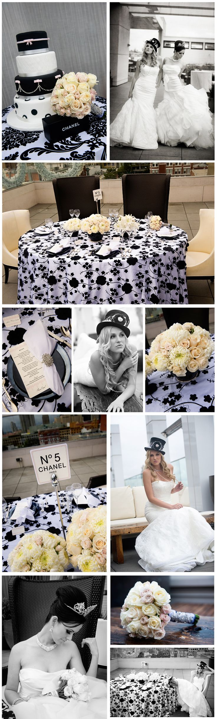 Never mind the Chanel, black & white with a sparkly tiara? Love!