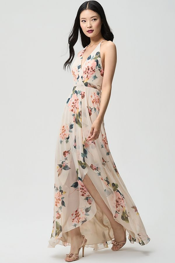 586be88ade61 Jenny Yoo Collection 2018 Bridesmaids, The Farrah dress features a feminine  surplice bodice and a halter neckline to accentuate the shoulders while ...