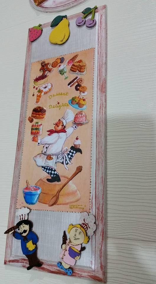ahşap boyama ile mutfak dekoru