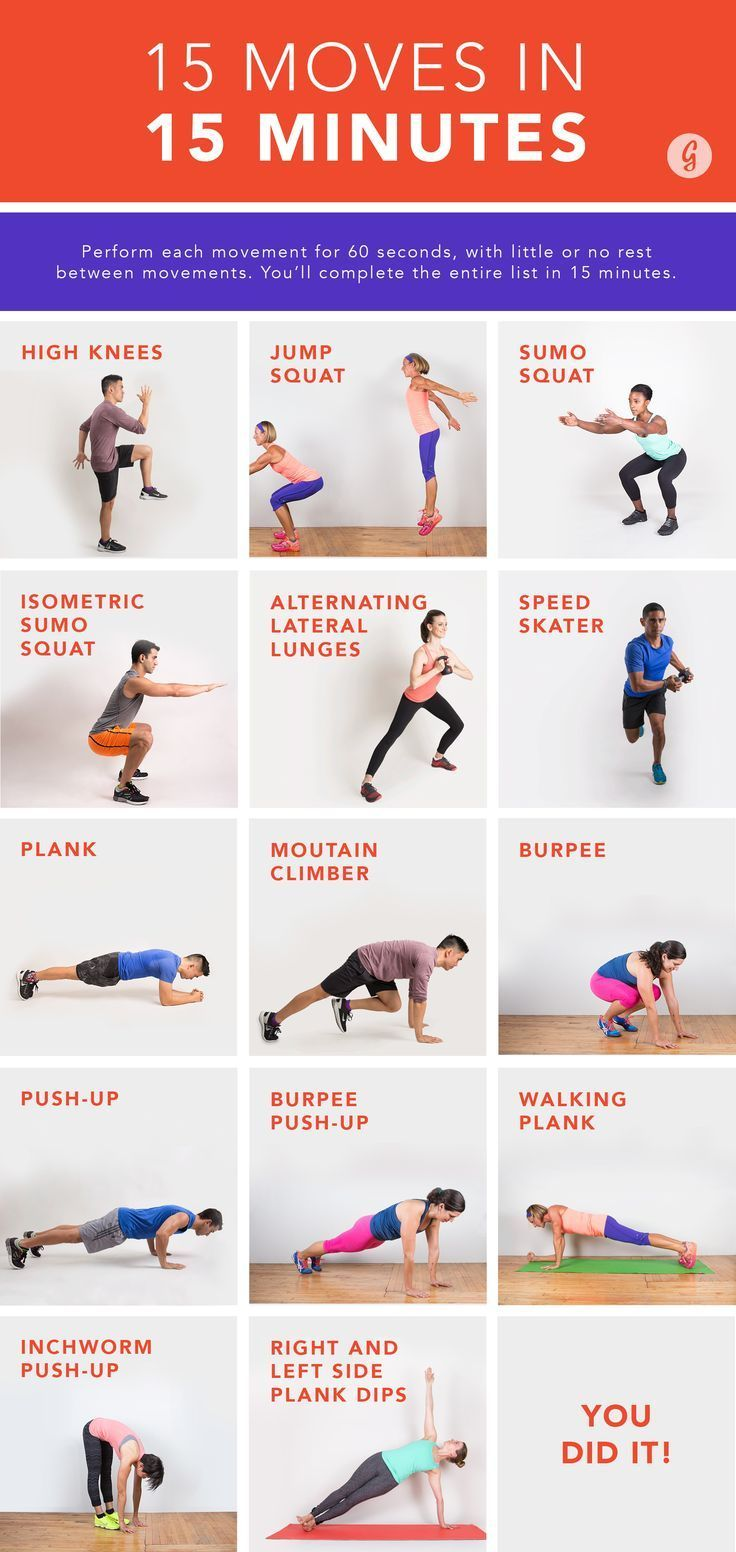 The 15 Moves in 15 Minutes Workout #quick #bodyweight #workout http://greatist.com/move/quick-no-rest-workout