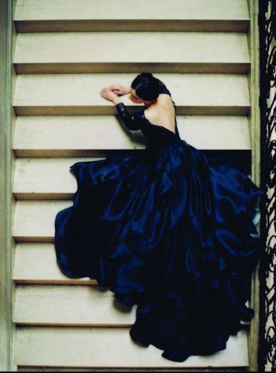 Dark Blue wedding dress by Sareh Nouri | Wedding & Party Ideas | 100 Layer Cake
