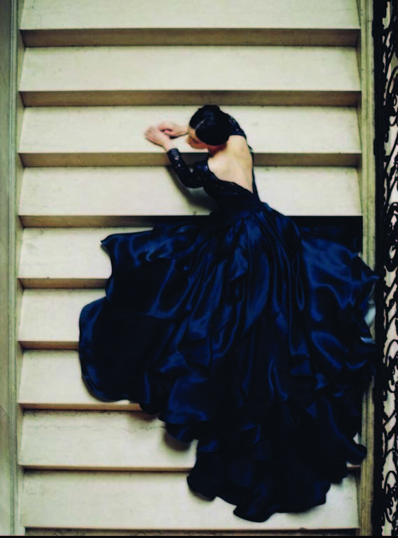 Dark Blue wedding dress by Sareh Nouri | Wedding & Party Ideas | 100 Layer Cake