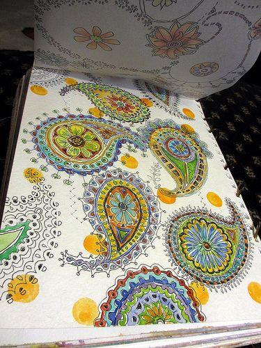 fun doodled paisley from her sketchbook by artist Jane LaFazio;   via janeville.blogspo...