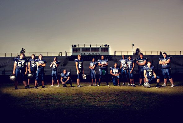 INCREDIBLE stylized football shoot.  Wonderful lighting & posing & the photog had just 7 min. per player to get these shots.  Ampersand Studio.