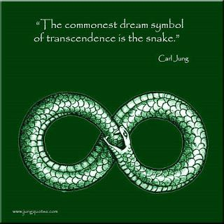 The commonest dream symbol of transcendence is the snake. ~ Carl Jung
