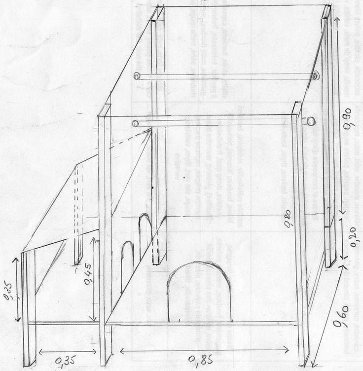 Les 25 meilleures id es de la cat gorie plan pour construire poulailler sur pinterest plan - Plan pour faire un poulailler ...