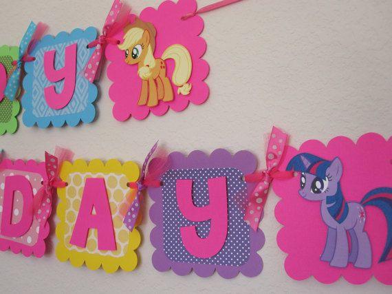 My Little Pony Banner de feliz cumpleaños