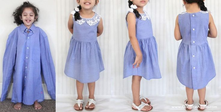 (9) Name: 'Sewing : DIY Adult Shirt to LINED Toddler Dress