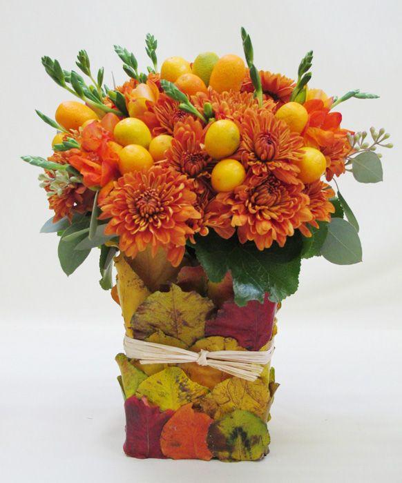 Best 129 party centerpieces images on pinterest home decor for Diy thanksgiving floral centerpieces