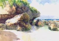Atiu, Two Rocks Beach