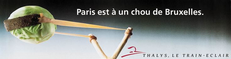 """Read more: https://www.luerzersarchive.com/en/magazine/print-detail/thalys-4047.html Thalys Paris is now only a short distance from Brussels. (Play on words: """"Chou"""" means """"cabbage,"""" """"chou de Bruxelles"""" is French for """"brussel sprouts."""" At the same time """"mon petit chou"""" is a therm of endearment akin to """"my little one."""") Tags: Ogilvy & Mather, Brussels,Geert Joostens,Marc Hendrix,Jan Parys,Frederic Bilquin,Olivier Roland,Frank Uyttenhove,Thalys"""