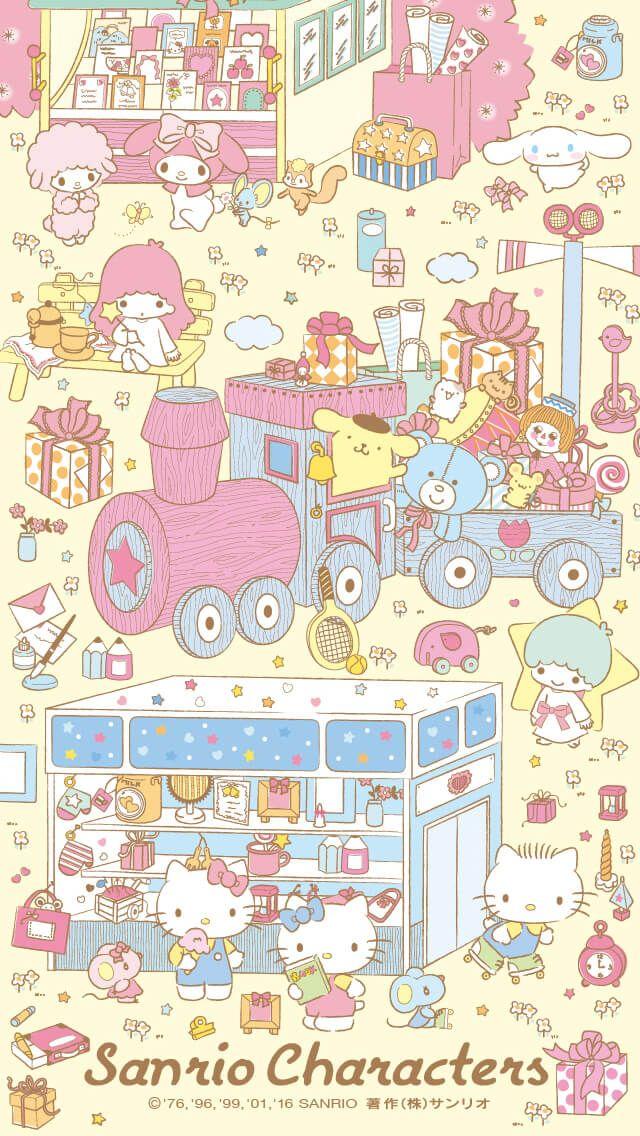 Sanrio wallpaper (о´∀`о)【640x1136】2017 いちご新聞1月号