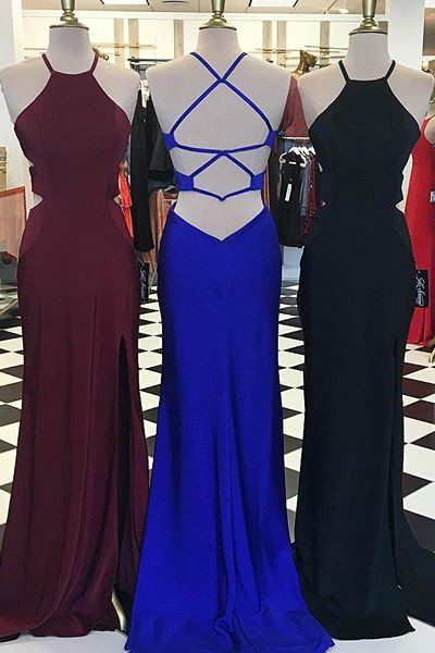 chiffon prom dress,formal dress with slit, prom dresses ball gown