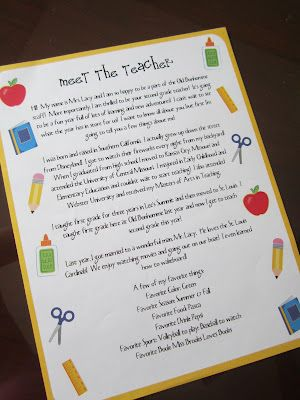 Lacy's Letters: Meet the Teacher & Freebies