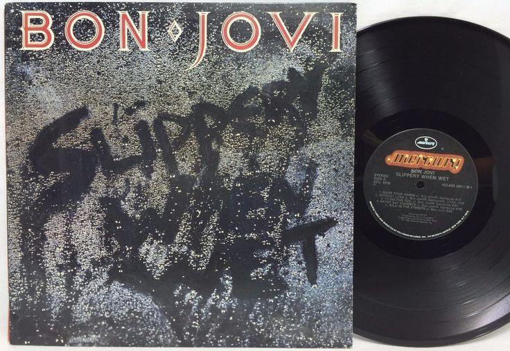 Bon Jovi Slippery When Wet Mercury Original Lp Vinyl