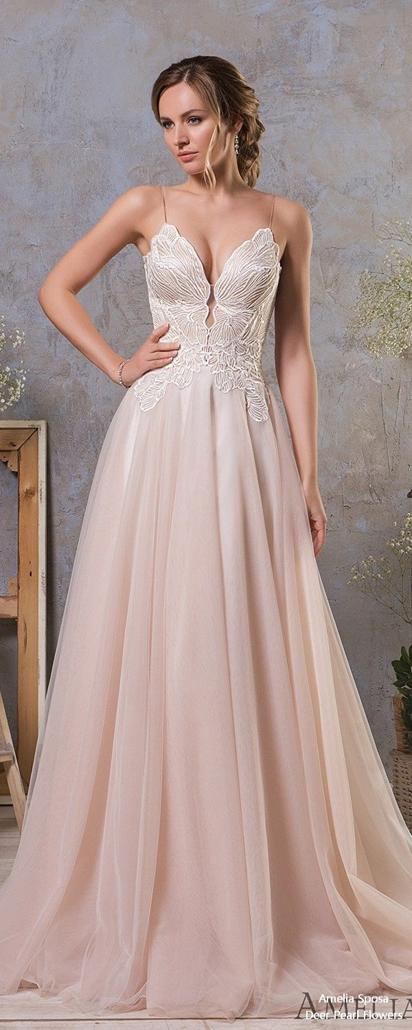 Strapless fitted lace wedding dresses  Amelia Sposa Wedding Dresses  u In Love with Lace Collection in