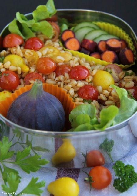 Weizen-Tomaten-Salat