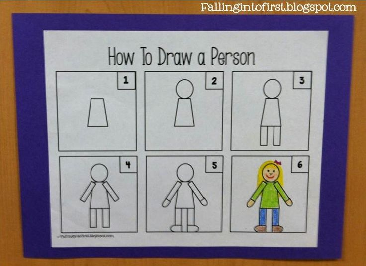 How to Draw a Person: Directed Drawing Kindergarten, Drawing Ideas For Kids, Illustration Rubric, Directed Drawings For Kids, How To Draw, Kindergarten Rubric, Teaching Kids To Draw People, Drawing People Kindergarten, Kindergarten Writing Rubrics