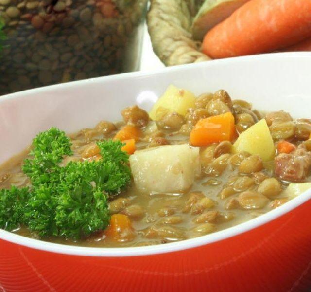 Recept Pikantní čočkový rendlík s brambory a mrkví