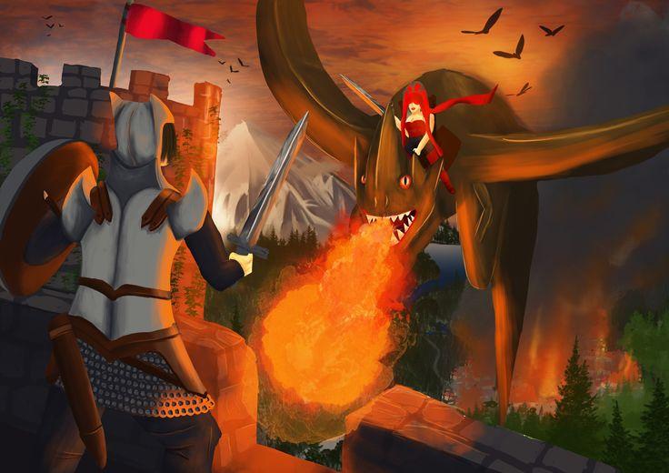 Dragon Rider - Digital Illustration - 2014