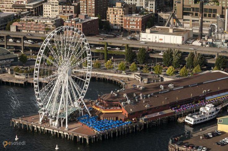 Большое колесо Сиэтла – #Соединённые_Штаты_Америки #Вашингтон #Сиэтл (#US_WA) Seattle Great Wheel - на момент открытия, в конце июня 2012 года, являлось самым высоким колесом на Западном побережье США. http://ru.esosedi.org/US/WA/1000212840/bolshoe_koleso_siyetla/