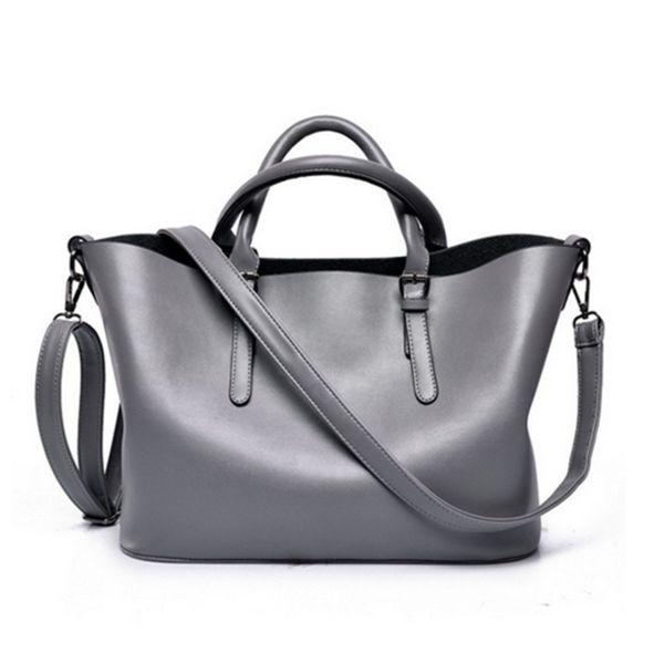 Bibiane - Black or Grey Designer Leather Handbag