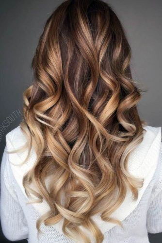 Brown to Caramel Ombre and Blonde Balayage by tina