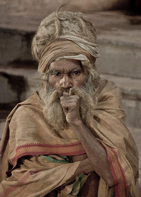 Waranasi, Sadhu z Waranasi, INDIE