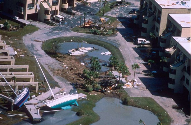 1989 - Hurricane Hugo Dates active: September 9 - 25 Peak classification: Category 5 Sustained wind speed: 160 mph (260 km/h) Areas affected: The Caribbean, United States East Coast Deaths: 56 Damage: $8.5 billion (Pictured) Yachts washed up in Charleston, South Carolina, after Hurricane Hugo.