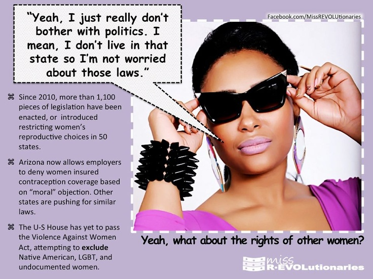 You'll care when they jack up the price of Pills to $100/month.  That will never happen with condoms, you know.: Feminism Politics, Feminist Boards, Feminist Why Aren T, 100 Months, Jack O'Connell, Political Warning I M, 100 Dollars Months, Politics Politics, Political Dogma
