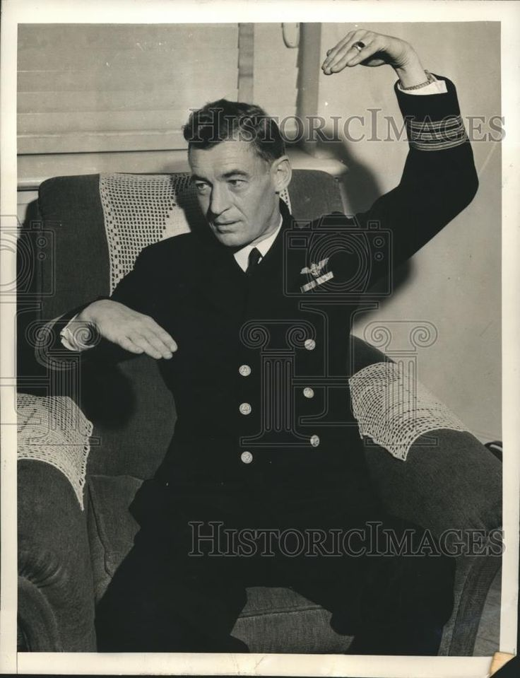 1942 Press Photo Commander irving D Wiltsie was on USS Yorktown at Midway - $17.88 | PicClick