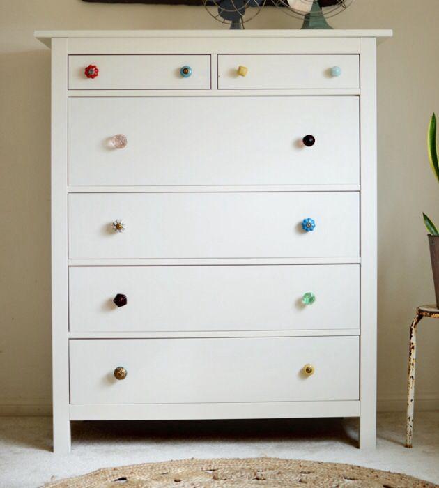 Mismatched Dresser Knobs HOME DECO Furniture Storage Pinterest