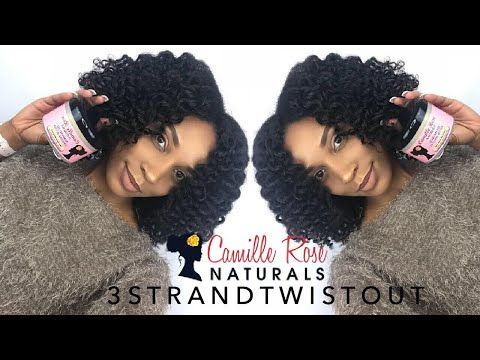 3 Strand Twist Out w/Camille Rose Naturals   Dana Nicole - YouTube Perm rods, twist out, wash and go, wash n go, natural hair, natural hair styles, frizzy hair, team natural, defined curls, mielle Organics , Cantu, YouTube, Dana Nicole, 3b/3c, 3b natural hair, 3c natural hair, 3b curls, 3c curls, hair tutorial, Curly hair, Afro, melanin, black hair styles, black hair, low porosity hair, defined curly hair, LOC, LOC method, LCO, Bantu knots, melanin queen, three strand twist out, Afro
