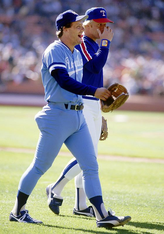 Kansas City Royals 3rd Baseman George Brett And Texas Rangers Buddy Bell
