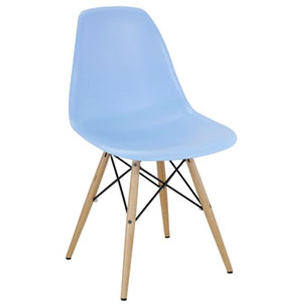 Apt2B Rinaldi Side Chair Light Blue ($120) ❤ liked on Polyvore featuring home, furniture, chairs, dining chairs, outside chairs, mid century modern dining chairs, outdoors chairs, mid century modern furniture and molded chair