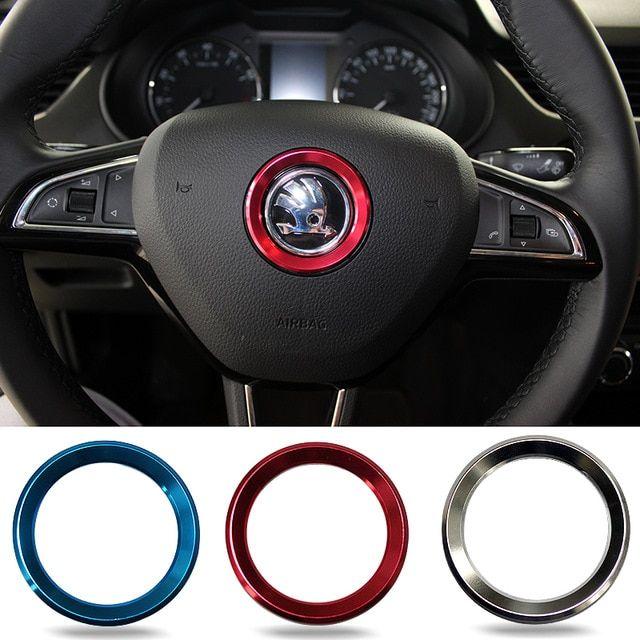 Car Styling Steering Wheel Logo Emblems Ring Decoration Sticker
