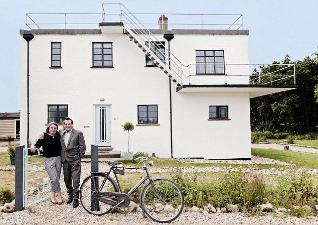 The Control Tower B&B in Walsingham, Norfolk, has been restored as a vintage-inspired B&B by owners Claire and Nigel