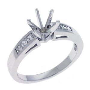 14K White Gold 0.36cttw Princess Diamond Semi Mount Engagement Ring Jewelry Pot. $1039.99. Your item will be shipped the same or next weekday!. Fabulous Promotions and Discounts!. All Genuine Diamonds, Gemstones, Materials, and Precious Metals. 100% Satisfaction Guarantee. Questions? Call 866-923-4446. 30 Day Money Back Guarantee