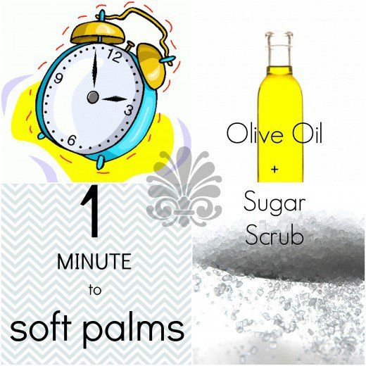 Q: What is the easiest DIY remedy for soft hands? A: Why, olive oil and sugar, of course!