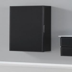 Black Wall Mounted Storage Cabinets